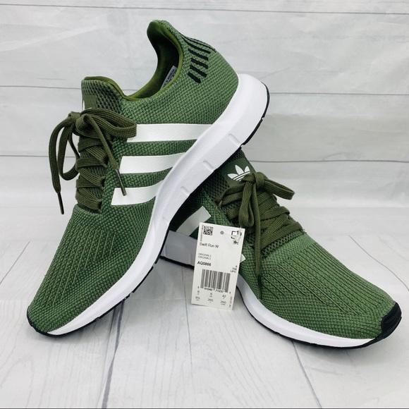 Womens Adidas Swift Run Army Green